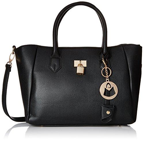 MG Collection Classic Padlock Satchel Bag