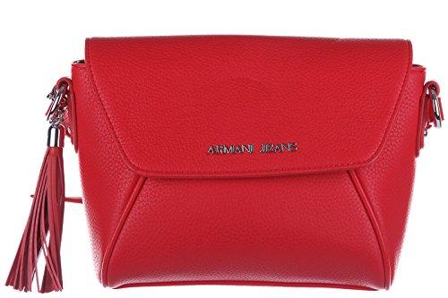 Armani Jeans women's cross-body messenger shoulder bag nappina red