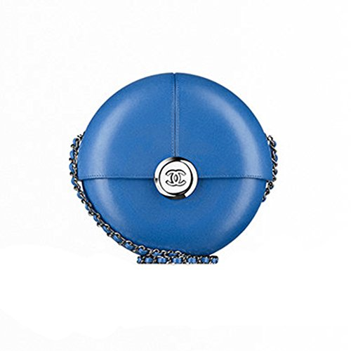 Authentic Chanel Evening Bag Lambskin Blue Item A94448 Y01480 2B418 Made in France