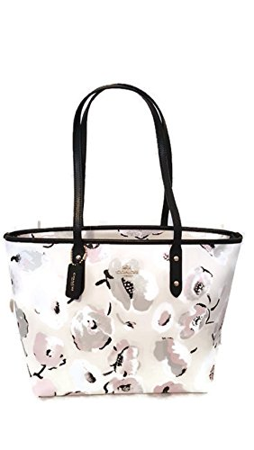 Coach Large Wildflower City Zip Tote Bag F37266
