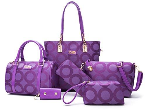 Womens Shoulder Bags Top-Handle Handbag Womens Canvas Cross Body Bag 6 Piece Set Bags