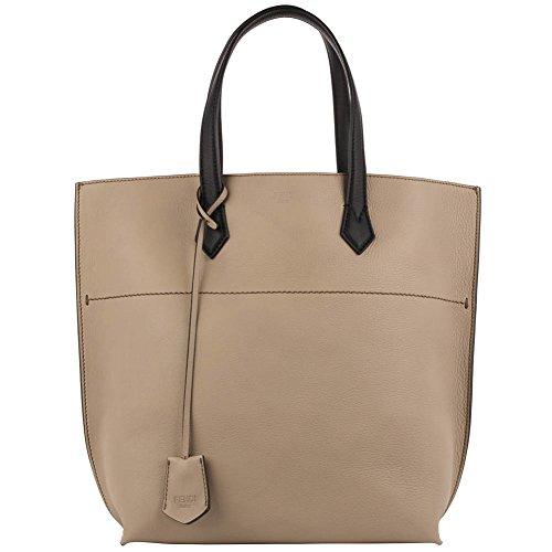 Fendi Leather Shopping Tote