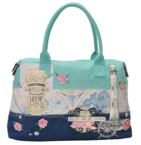 Vendula London Women Designer Handbags Lighthouse Shoulder Tote Bag
