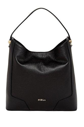 Furla Michelle Leather Hobo Shoulder Bag, Onyx