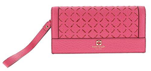 Kate Spade Perri Lane Linney Wristlet Handbag Clutch Purse in Caberet Pink (688)