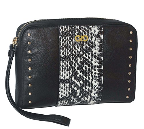 Cole Haan Leather Zip Around Wristlet Pouch Wallet Purse