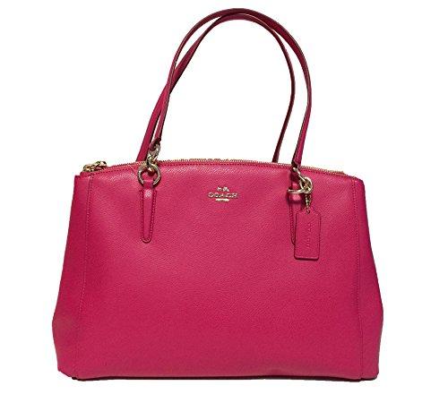 Coach Crossgrain Leather Christie Carryall Handbag in Pink Ruby F36606