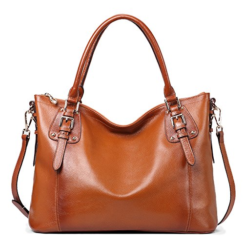 AINIMOER Large Ladies Soft Leather Vintage women's Shoulder Handbags Top-handle Purse Cross Body Bag