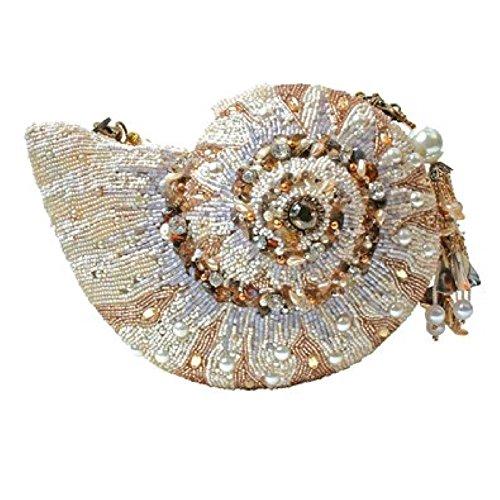 Mary Frances Nautilus Shell Convertible Clutch Handbag