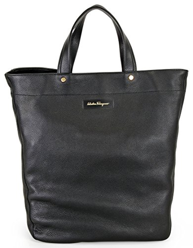 Ferragamo Leather Tote Bag – Black