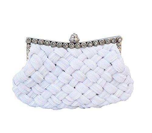 Fashion Ladies Elegant Rhinestones Clasp Flap Purse Evening Bag Clutch