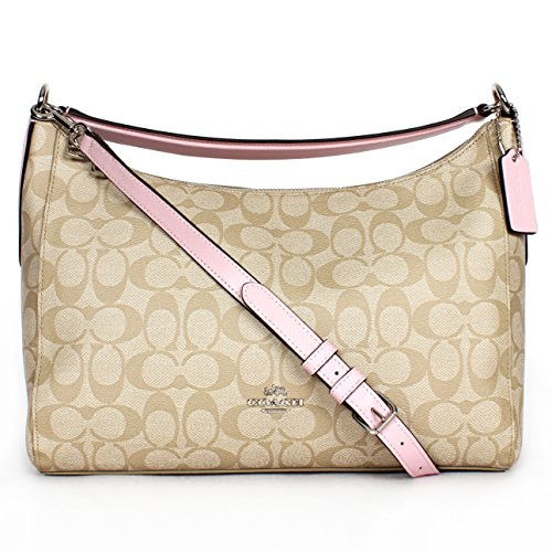 Coach 34899 Signature East West Celeste Hobo Light Khaki/petal