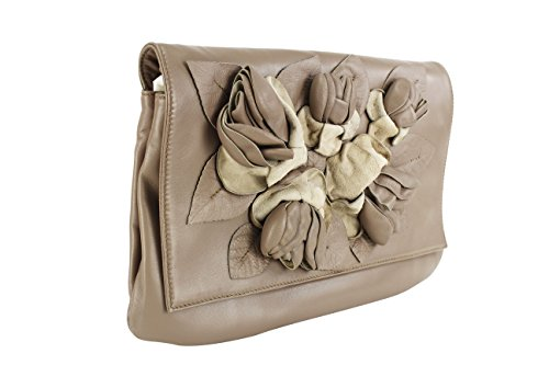 Valentino Brown Leather Women's Clutch Handbag