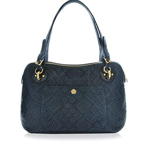 Eric Javits Designer Women's Handbag Zimba Bag (Indigo)