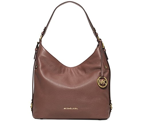 MICHAEL Michael Kors Bedford Belted Large Shoulder Bag (Dusty Rose/Gold)