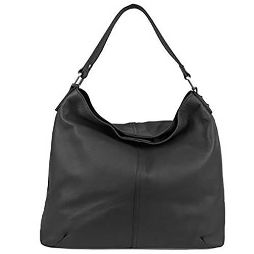 Kooba Leather Hobo Bag – Black