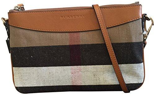 Burberry Canvas Check Peyton Wristlet Crossbody Bag