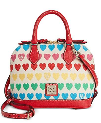 Dooney & Bourke Bitsy Zip Zip Satchel Bag Multi