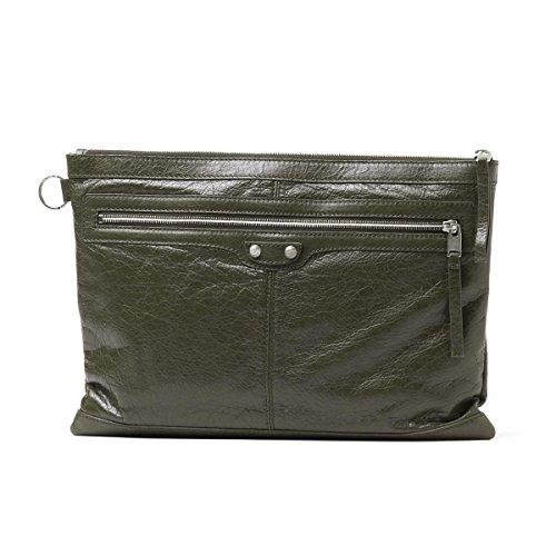 BALENCIAGA / clutch bag clip L ARENA /VERT BRONZE green series 273023