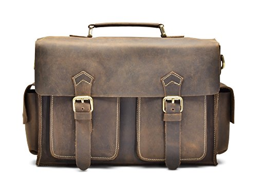 Hølssen Satchel Briefcase Messenger 13″ Laptop Genuine Leather Bag