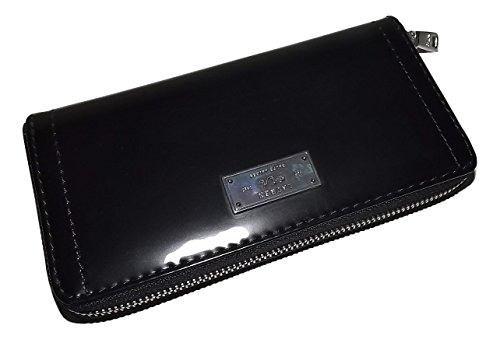 Ralph Lauren Womens Leather Chiswell Zip Around Credit Card Clutch Wallet Black