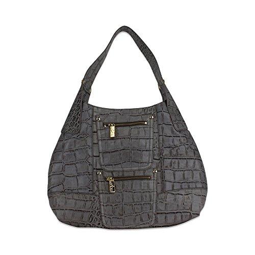 Kooba Ivy Hobo Bag Grey/Blue Croco F12172E-64