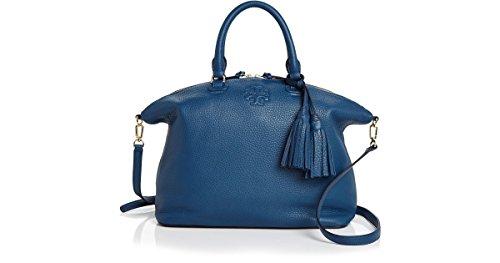 Tory Burch Tidal Wave Blue Thea Medium Slouchy Satchel Bag New