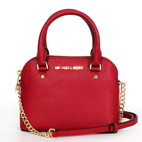 Mmichael Michael Kors Cindy Mini Crossbody Cherry