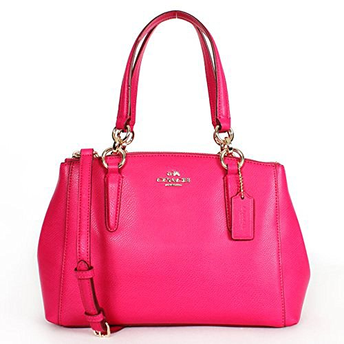 Coach F36704 Pink Ruby Mini Christie Carryall in Crossgrain Leather