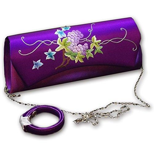 Yiling Women Evening Clutch Envelope Handbag Banquet Handmade Silk Embroidery Chinese Luxury