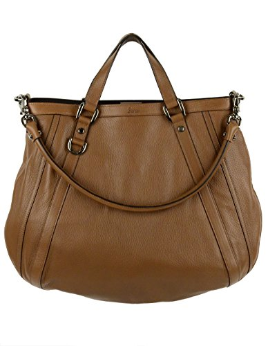 Gucci Bag Brown Convertible Leather D Ring Abbey Tote Purse 268641