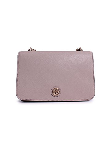 Tory Burch Robinson Adjustable Shoulder One Size in French Gray
