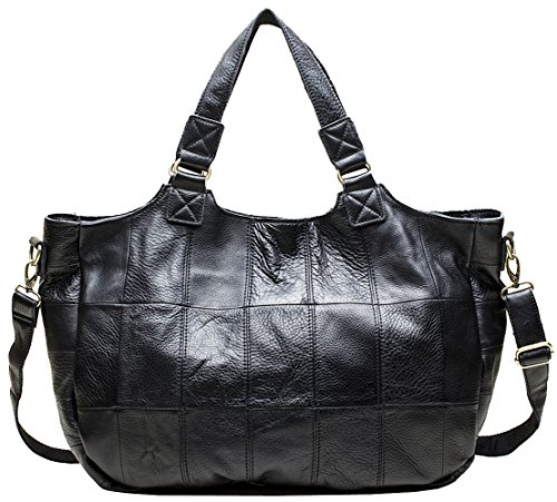 Heshe® New Sheepskin Leather Fashion Women's Tote Top Handle Shoulder Bag Cross body Handbag