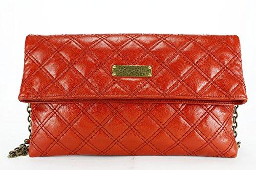 Marc Jacobs Red Leather Women's Clutch Handbag