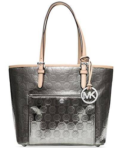 Michael Kors Jet Set MD Snap Pocket Tote Nickel 30T5MTTT6Z