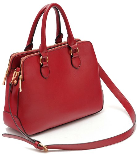 Ilishop Women's Red Famous Brand Tote Handbag Small