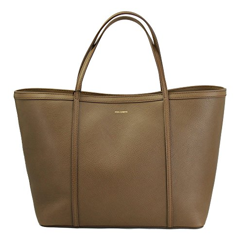 Dolce & Gabbana Beige Leather Tote Bag Bb4391 B6165 80047