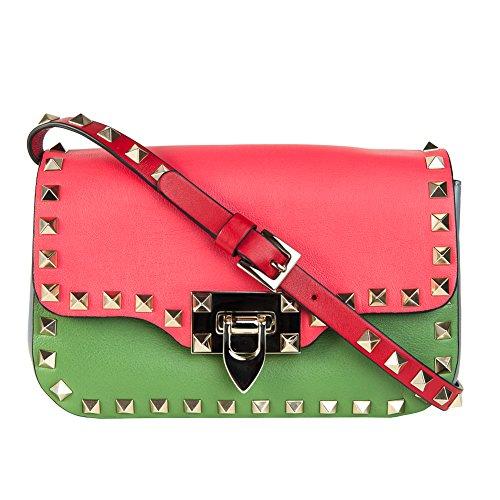 Valentino Garavani Rockstud Mini Multicolored Calfskin Crossbody Bag