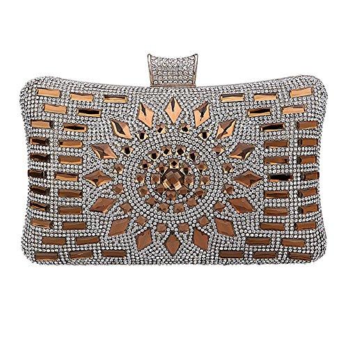 YourStyle Elegant Sparkle Bling Evening Clutch Wedding Party Handbag Evening Bag