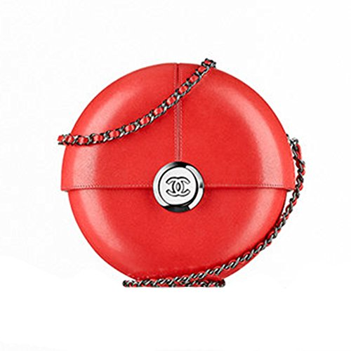 Authentic Chanel Evening Bag Lambskin Red Item A94448 Y01480 2B424 Made in France
