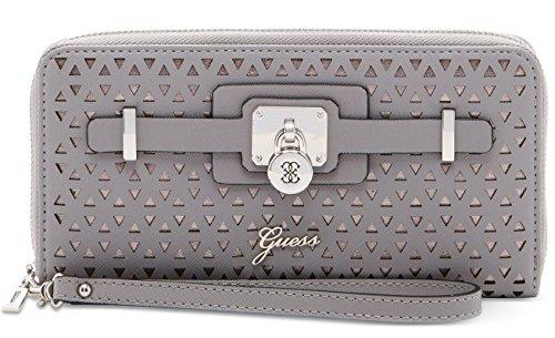 Guess Women's Greyson Zip-Around Wallet Clutch Bag, Smoke / Grey