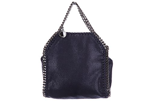 Stella Mccartney women's handbag shopping bag purse falabella micro blu