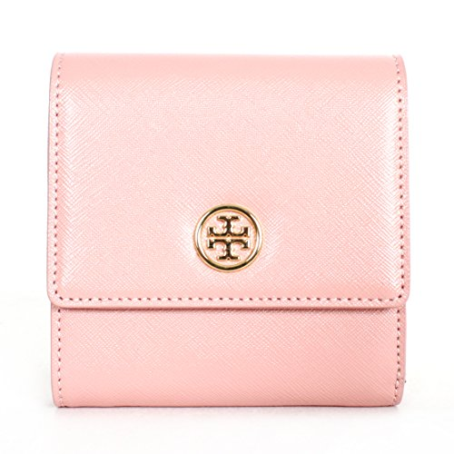 Tory Burch Robinson Trifold French Wallet Rose Sachet