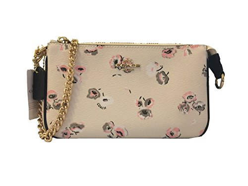 Coach PVC Leather Large Wristlet in Wildflower Print F65175