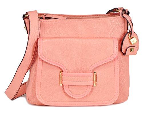 Jessica Simpson Leah Cross Body Bag, Peach, One Size