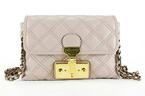 Marc Jacobs Grey Rose Leather Women's Baguette Handbag