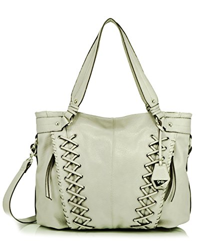 Jessica Simpson Tyson Whipstitch Tote Shoulder Bag, Storm Grey