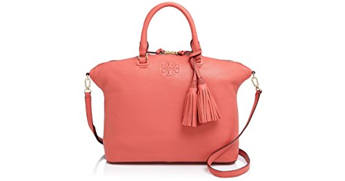 Tory Burch THEA MEDIUM SLOUCHY SATCHEL Spice Coral Pink Bag New