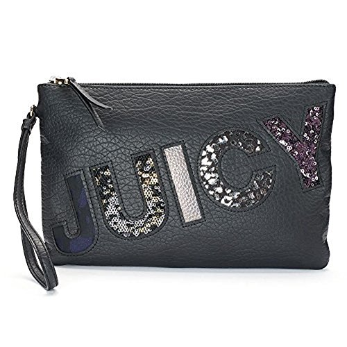 "Juicy Couture Graphic Wristlet ""Juicy"" Black"