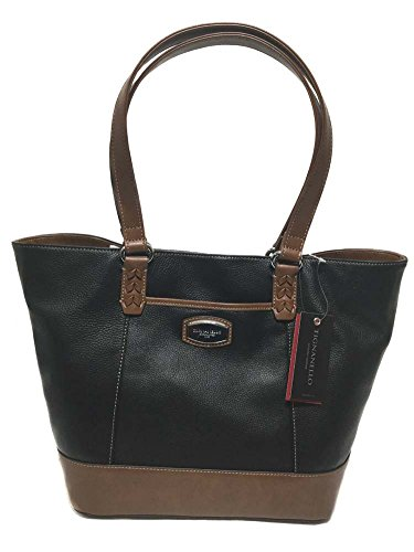 Tignanello Artisan Revival Conv. Shopper Black/ Cognac T61515A